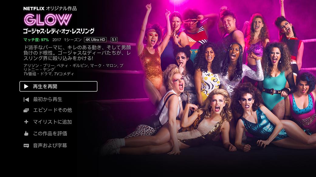 GLOW - Netflix ダッシュボード