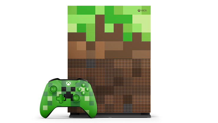Xbox One S Minecraft Limited Edition Bundle TB Xbox - Minecraft headset spielen
