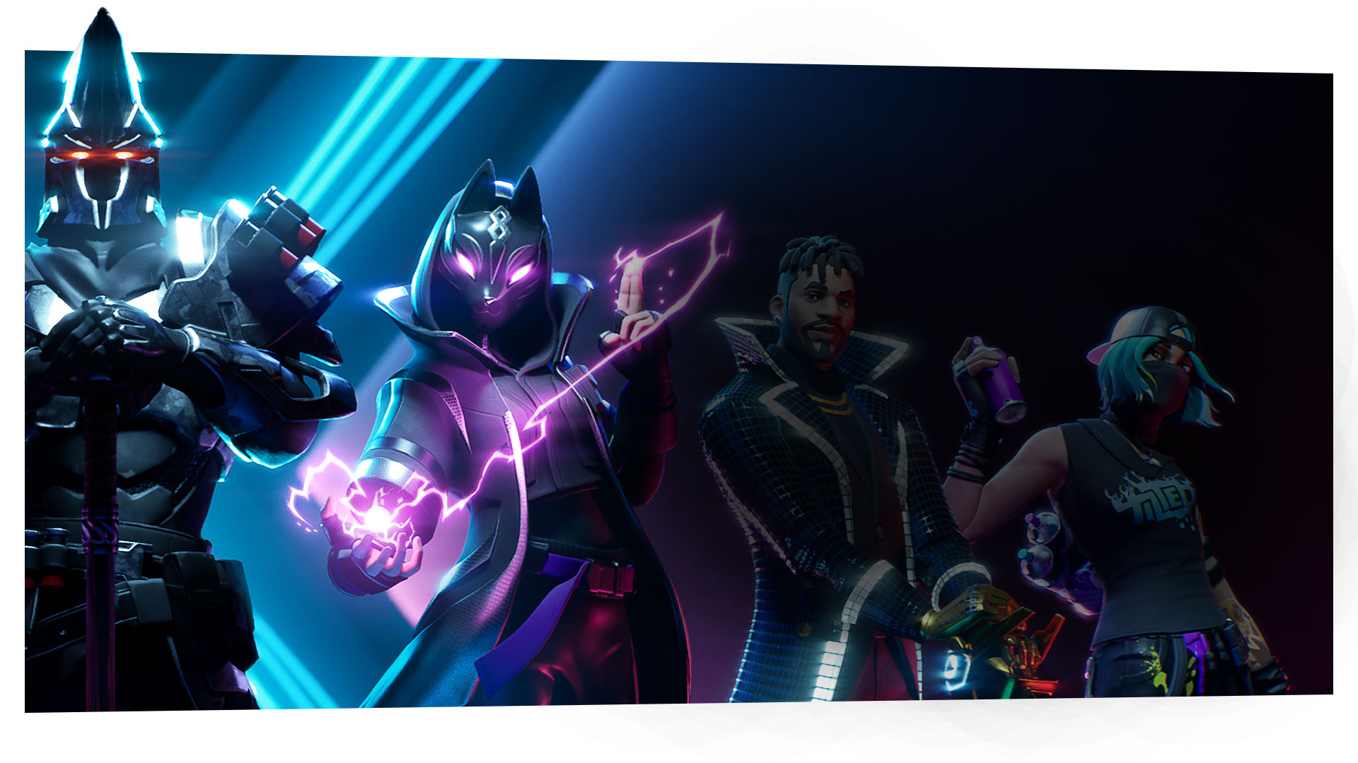 Fortnite Season X characters posing in formation