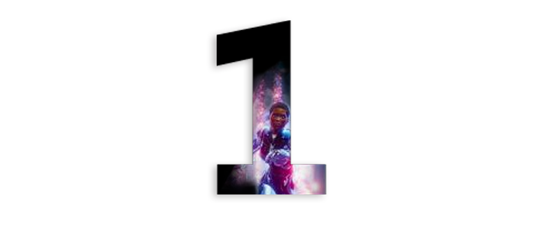 the number one with a character from Crackdown 3 inside the number