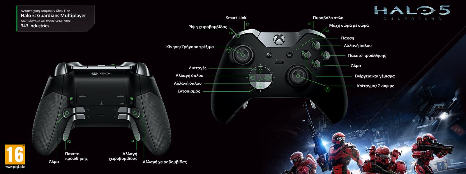 Halo 5 – Χαρτογράφηση Guardians Multiplayer Elite