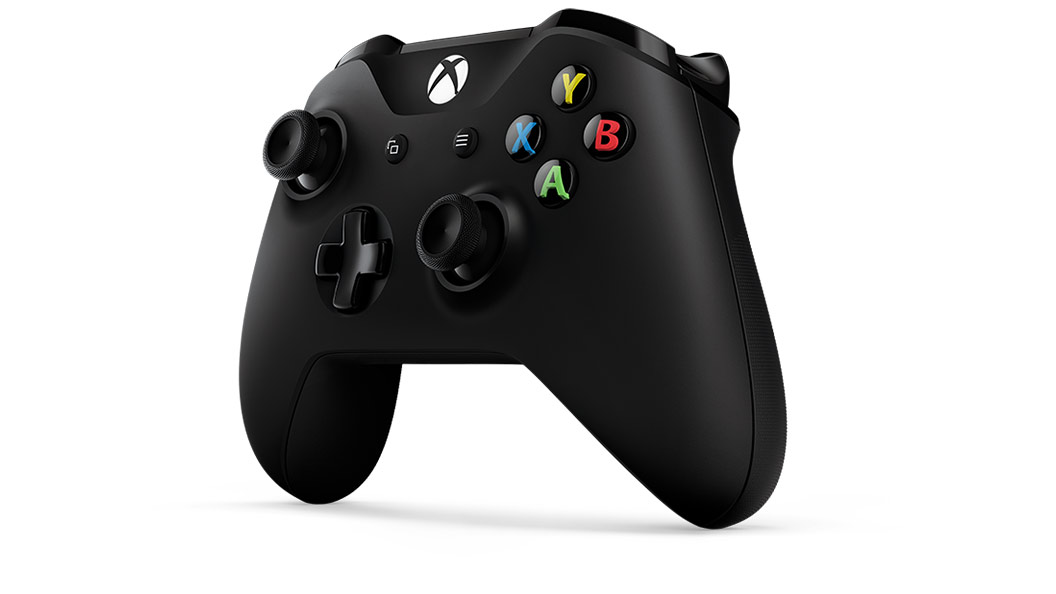 Left angle view of Black Controller