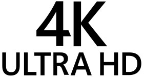Logotipo 4K Ultra HD