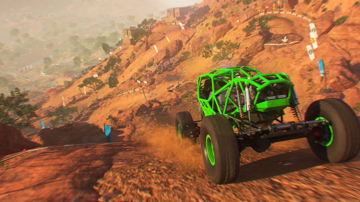 Green cage vehicle racing