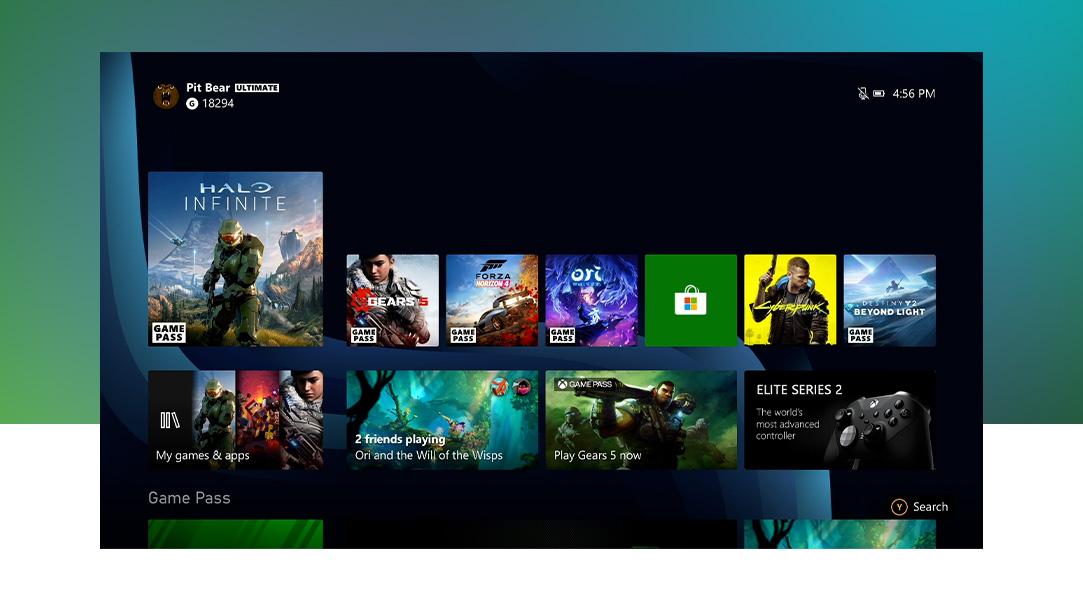 Dynamic Home on Xbox SeriesX.