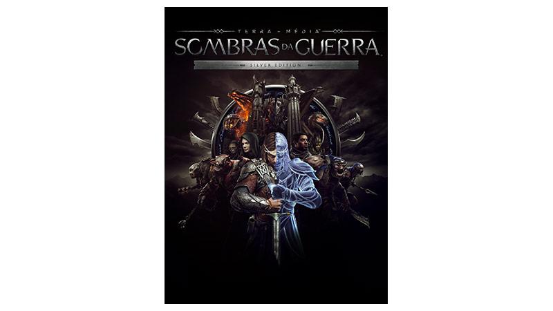 imagem da caixa de middle earth shadow of war silver edition.