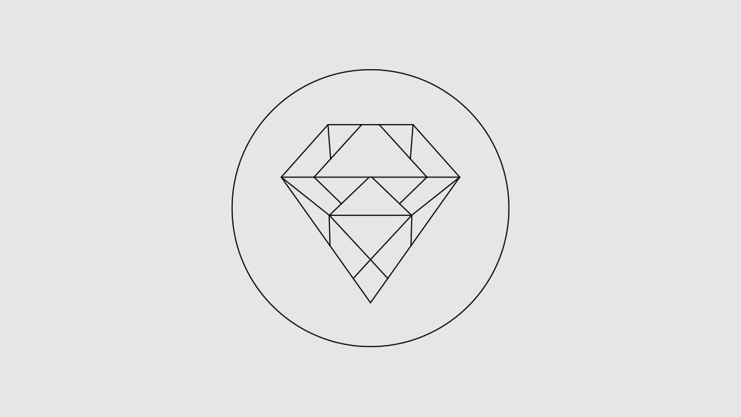 Illustration of a diamond within a circle representing a Gamerscore of one million