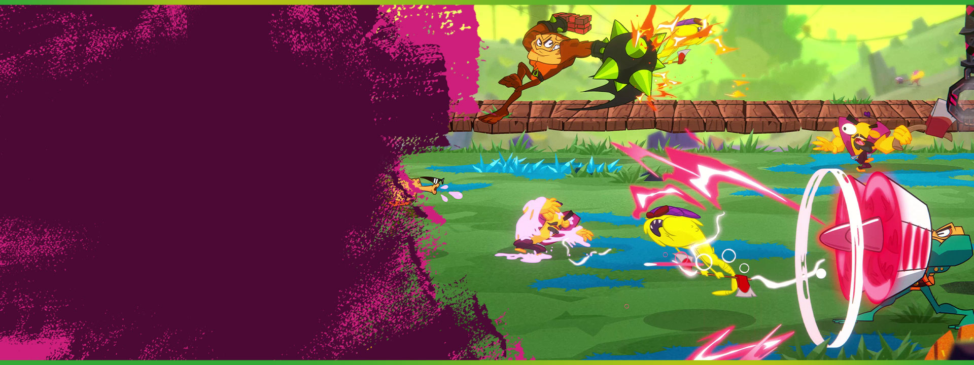 The Battletoads use a Morph Attack in a fight.