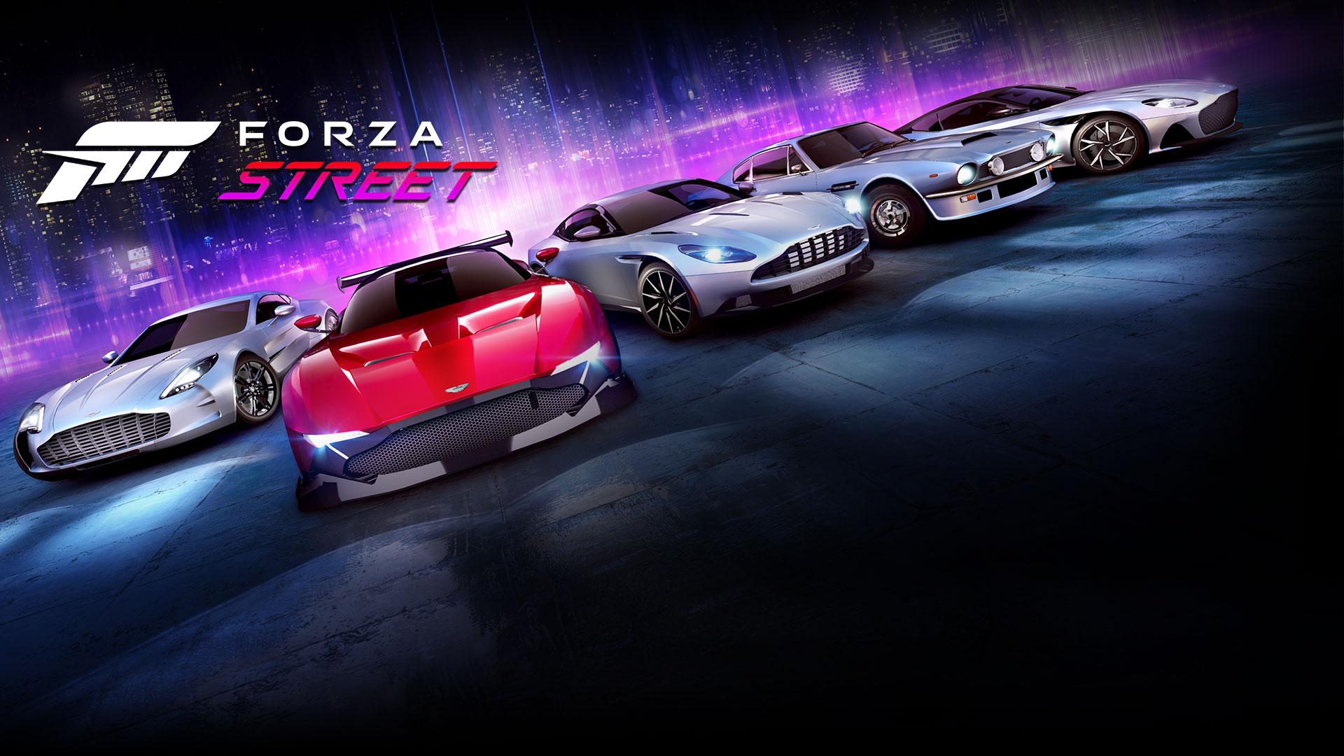 Forza Street, la gamme de voitures légendaires en arrière-plan