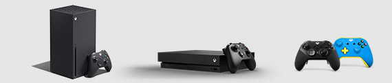Xbox Series X, Xbox One X, Comando Elite Series 2 e comando Xbox Design Lab