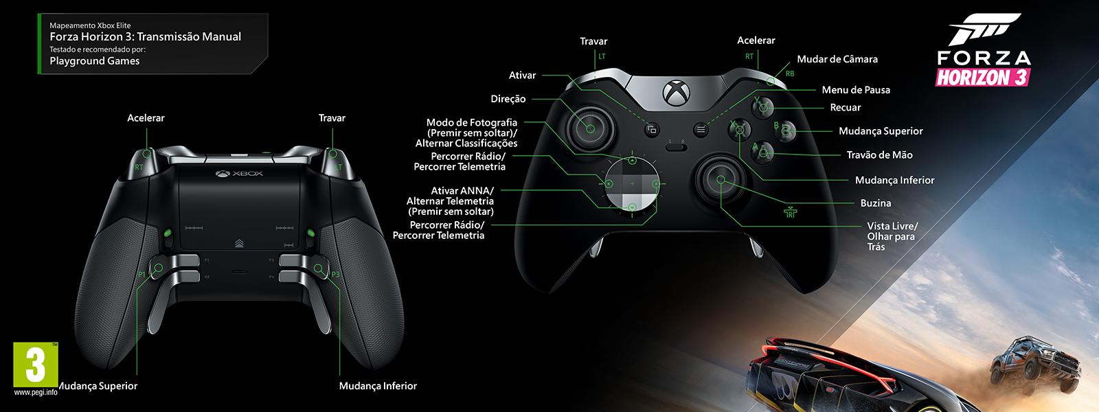 Mapeamento Elite para Forza Horizon 3 – Manual Transmission
