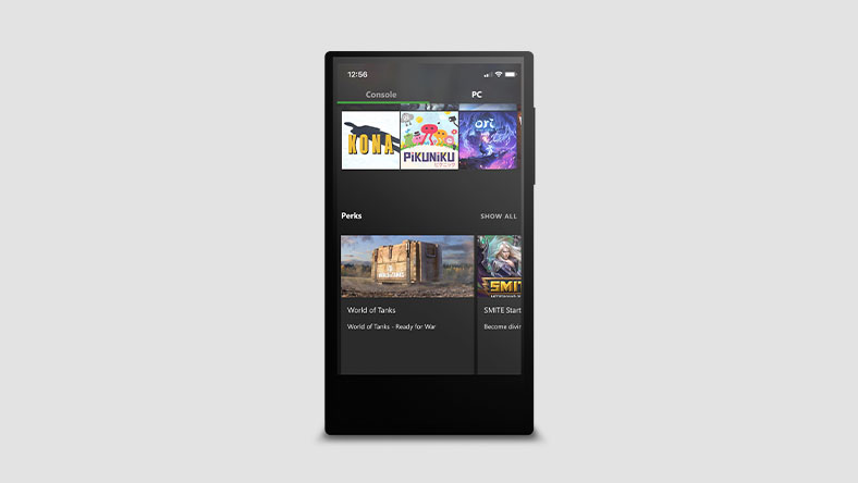App móvil de Xbox Game Pass