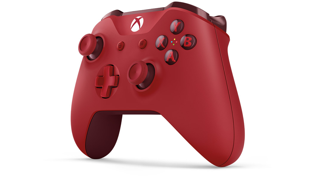Left angled view of Xbox One Red