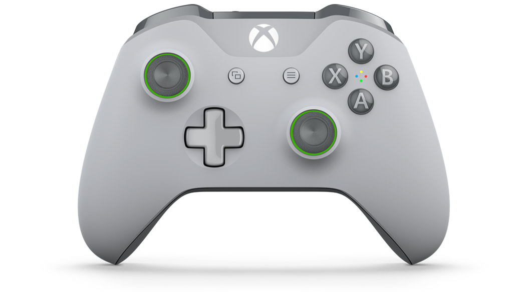 Rotating view of Grey/Green Controller