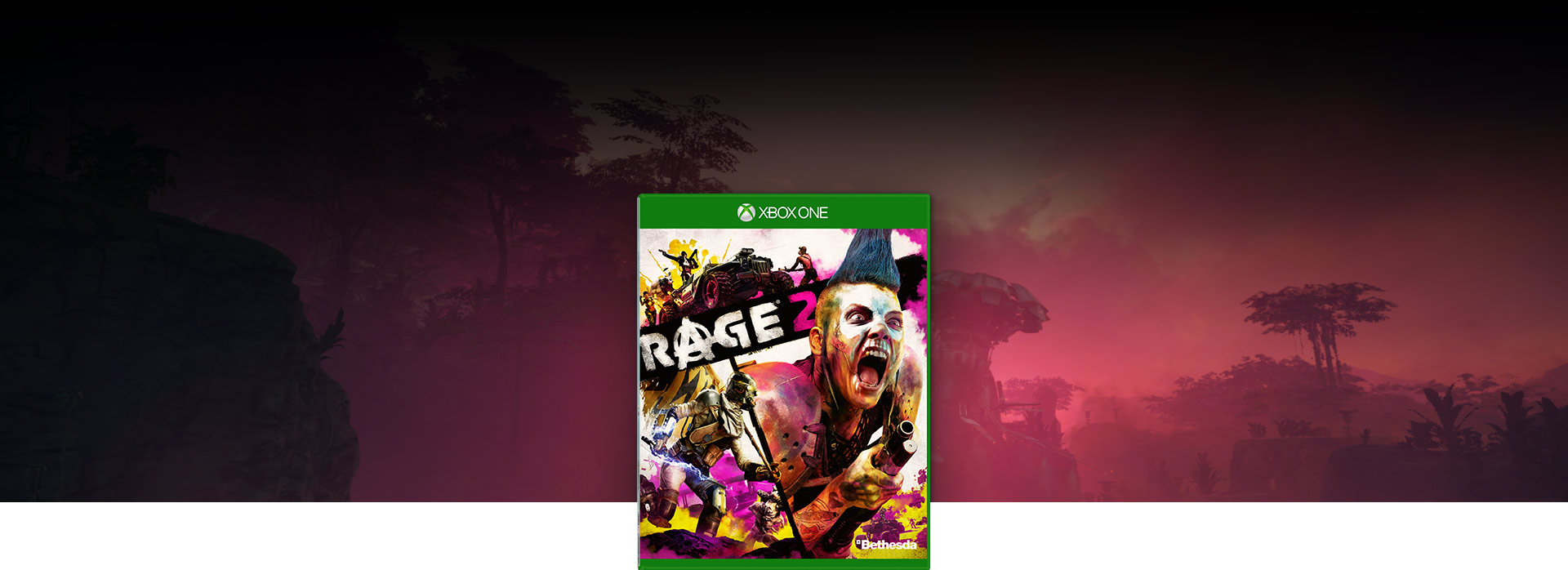Rage 2 boxshot, Background of a lush jungle