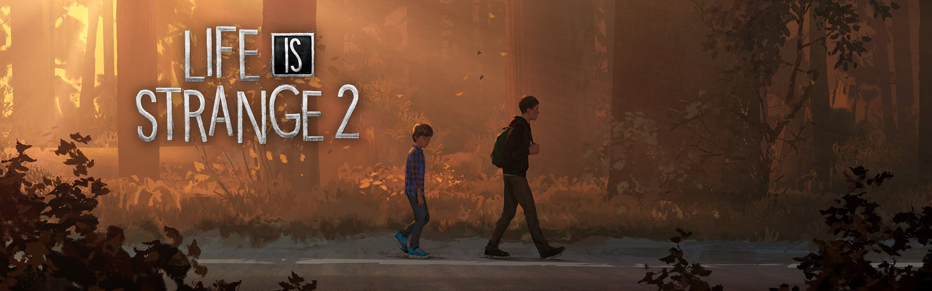 Life is Strange 2, Two brothers walk down a road through a forest in Seattle