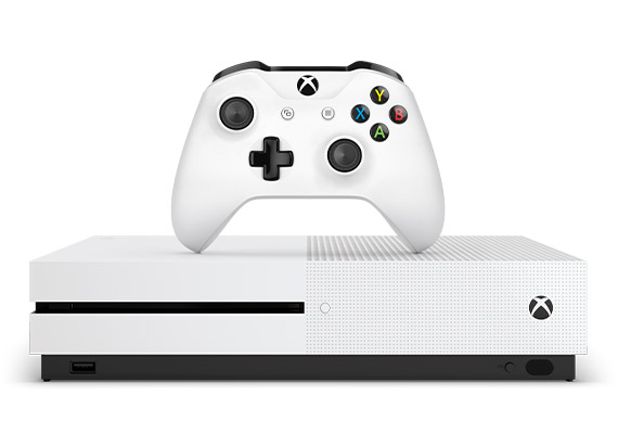 Vista frontal do Xbox One S