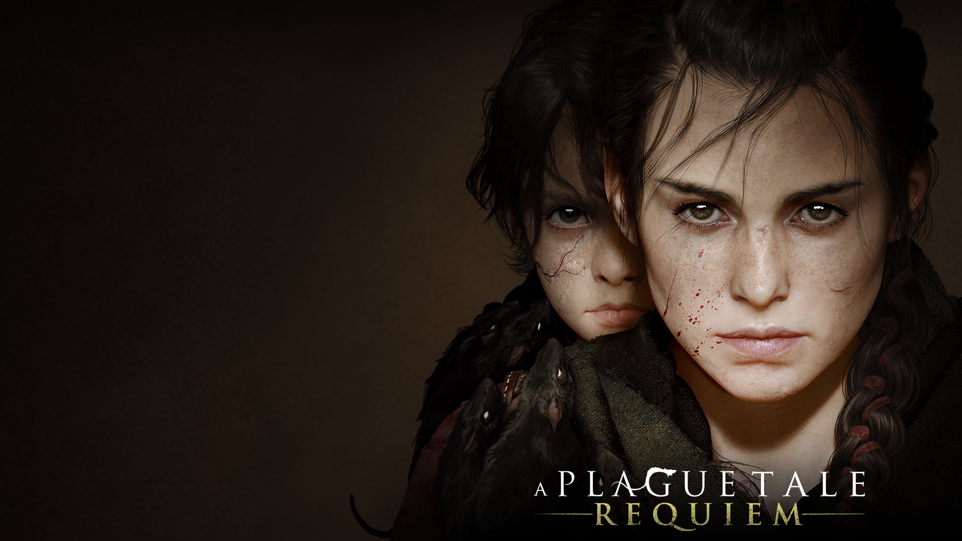 A Plague Tale: Requiem, Amicia stands in front of her brother Hugo.