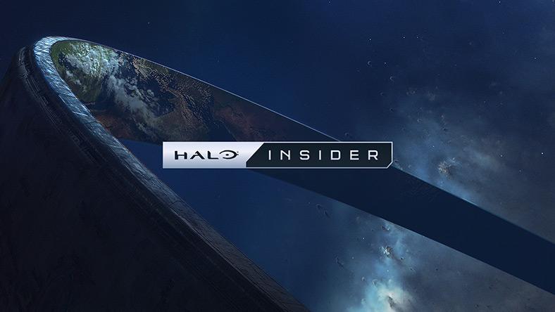空间背景上方的 Halo Insider 徽标和 Halo 戒指