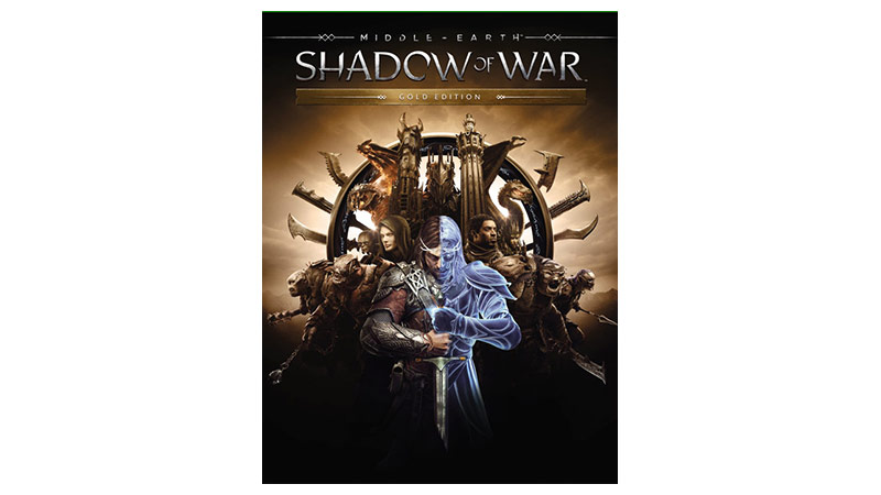 Middle earth Shadow of War 黃金版外包裝圖