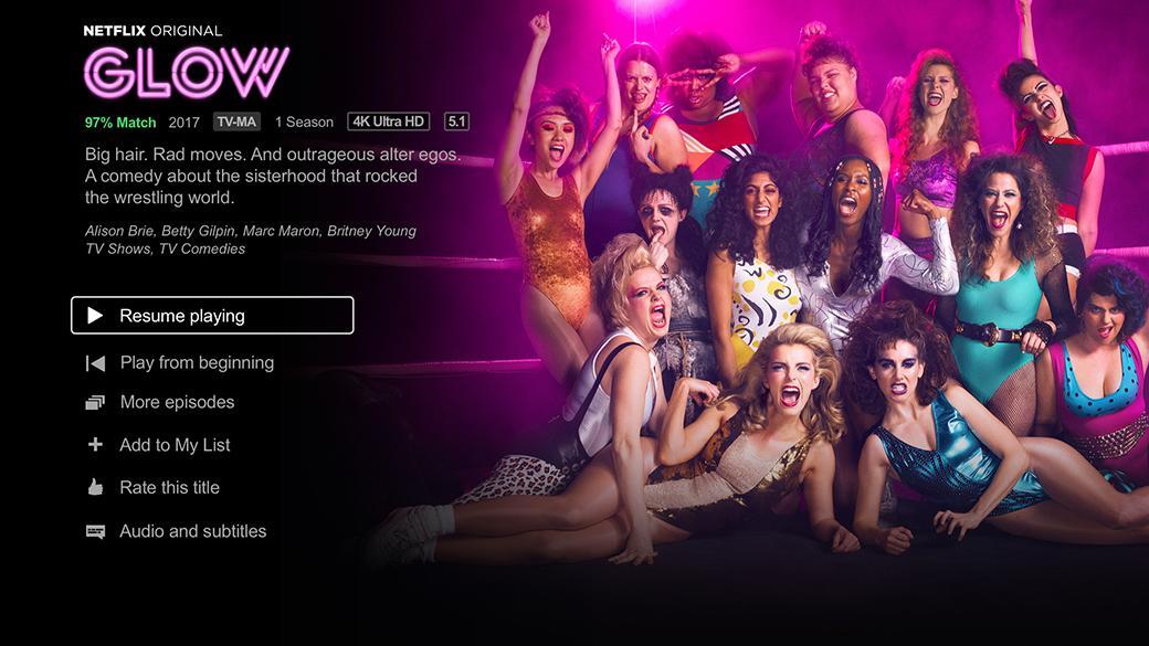 GLOW - Πίνακας εργαλείων του Netflix