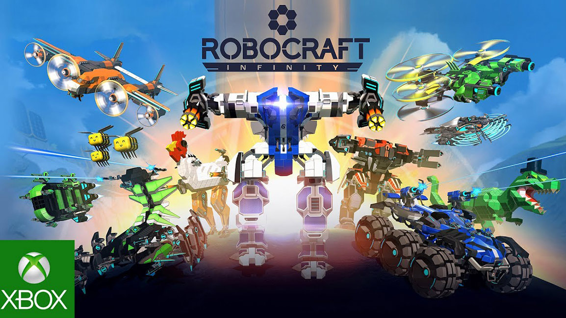 Robocraft Infinity, Front view of many robots built by blocks