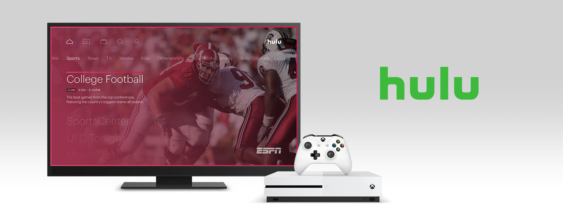 Hulu on an Xbox One