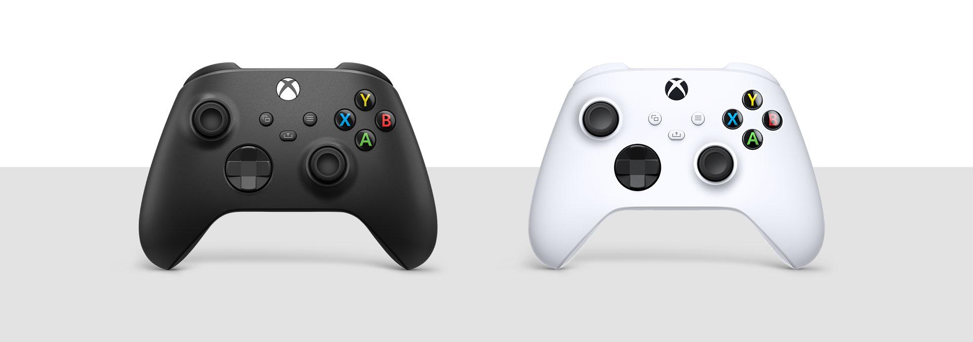 Controle sem fio Xbox Carbon Black e Robot White