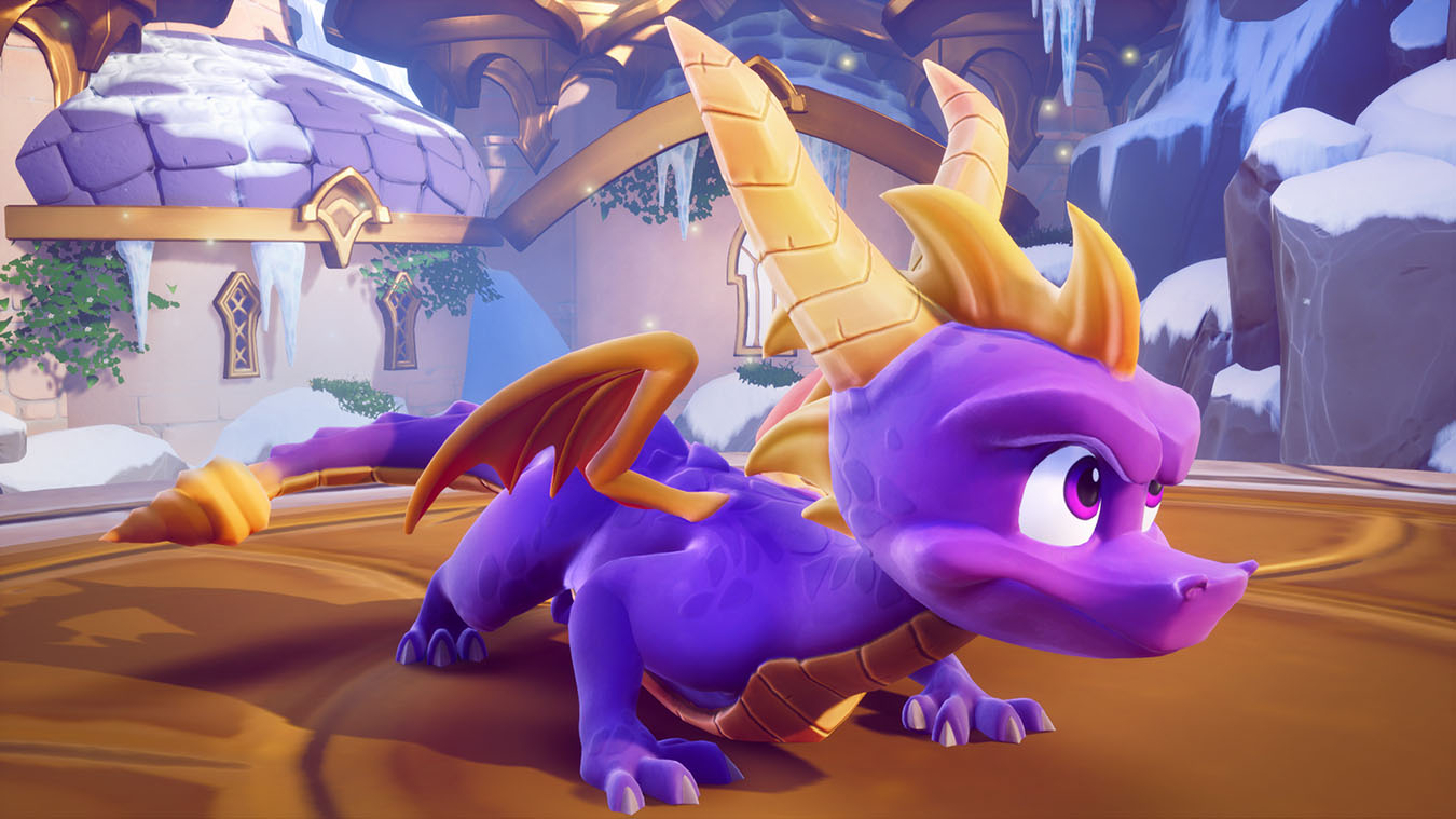 Spyro preparing for flight