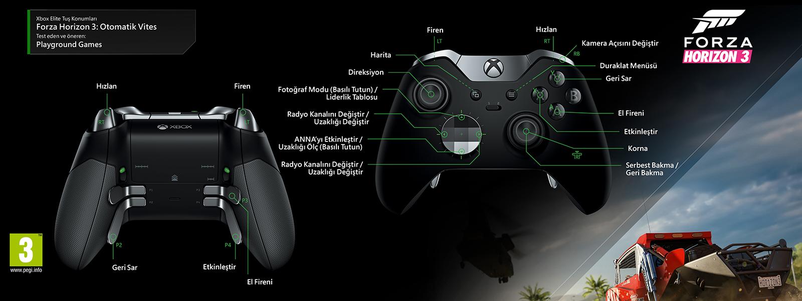 Forza Horizon 3 -Automatic Transmission Elite Kontrol Düzeni