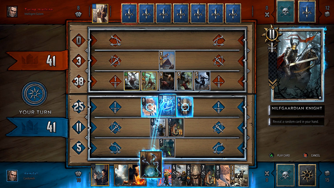 Vista de la pantalla de Gwent Card Game Battle