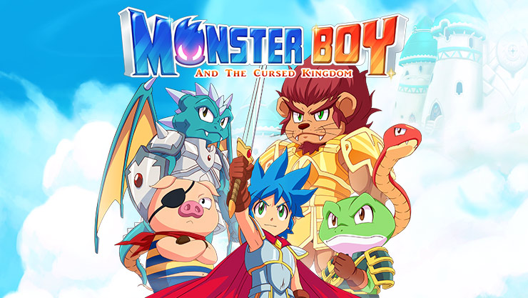 Game graphics of Monster Boy and the Cursed Kingdom