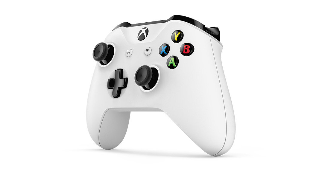 Xbox One wireless controller angled left