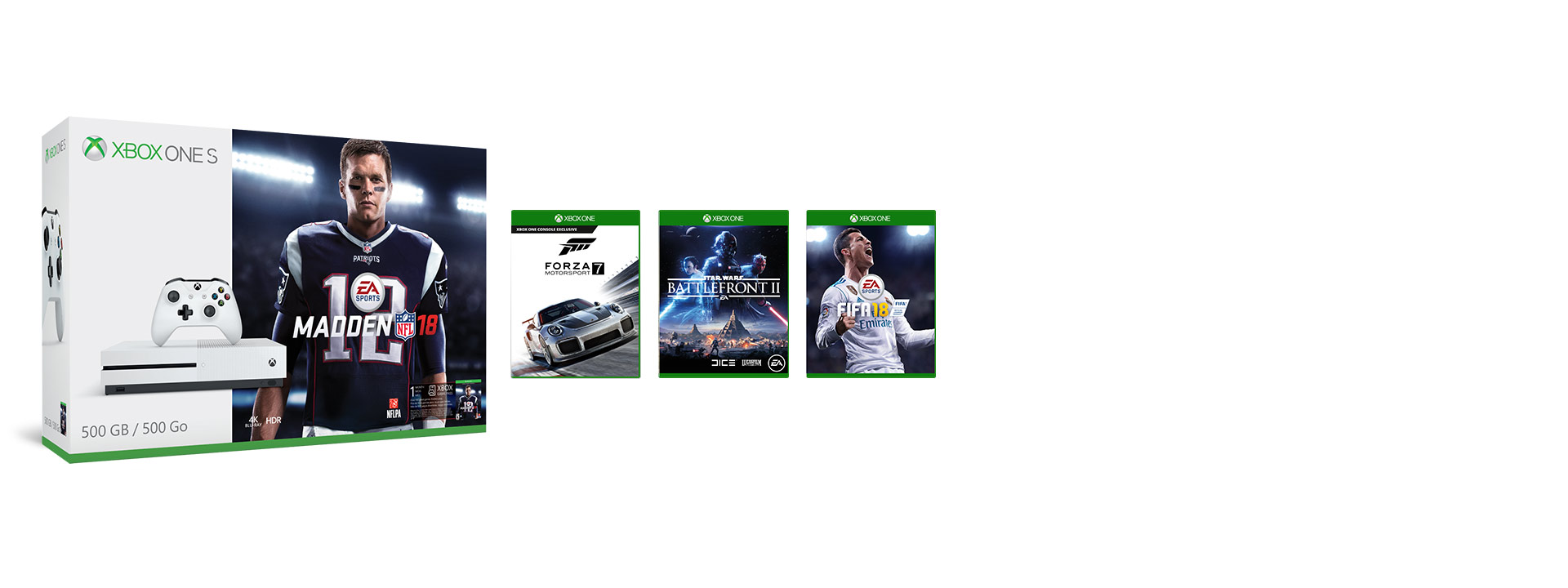 Xbox One S Forza Horizon 3 Hot Wheels with 3 games - Forza 7 - Assassins Creed Origins - Shadow of War