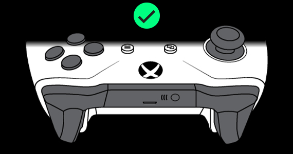 Xbox Wireless Controller with a green check mark