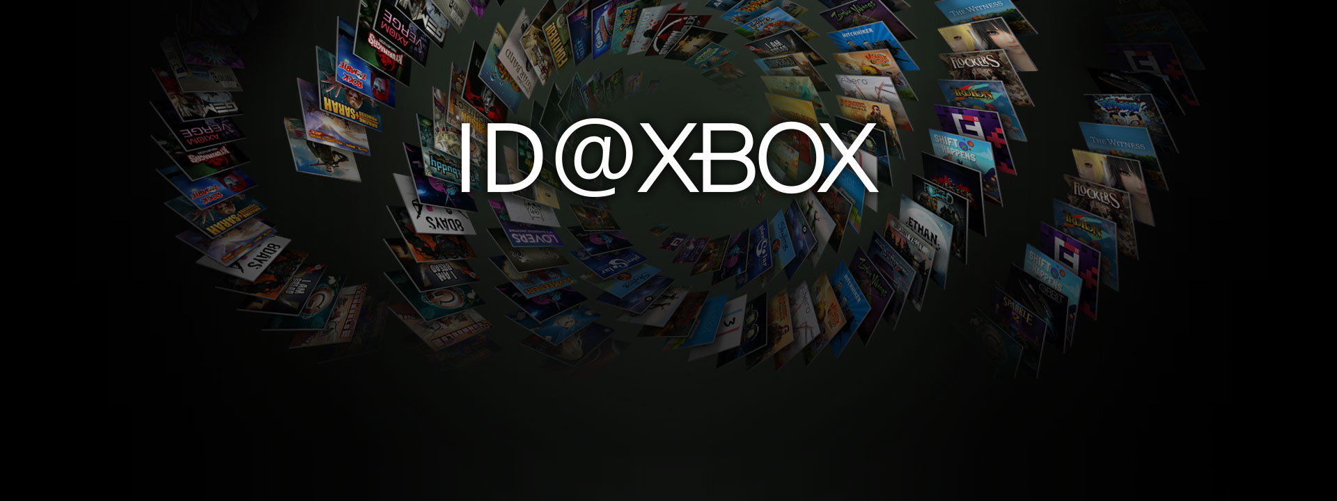 ID at Xbox logo infront of a collection of box shots from ID games
