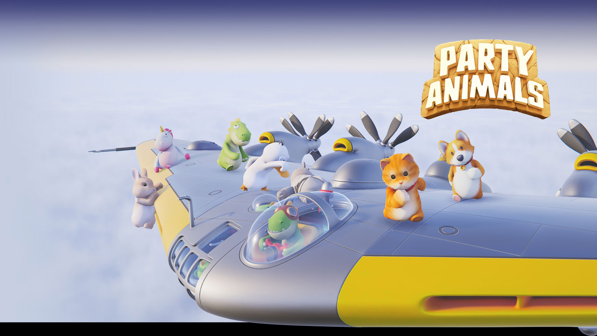 Key art from the game Party Animals.