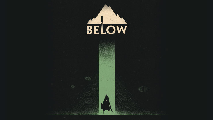 Below logo with shadow of a man under it