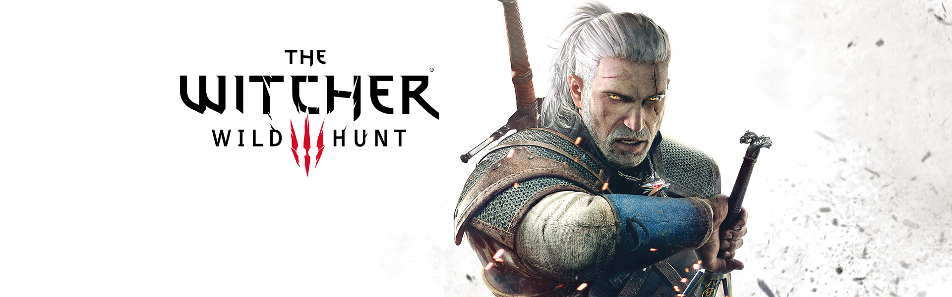 The Witcher 3 Wild Hunt, front view of Geralt unsheathing his sword