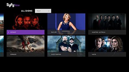 Syfy Now TV shows screenshot