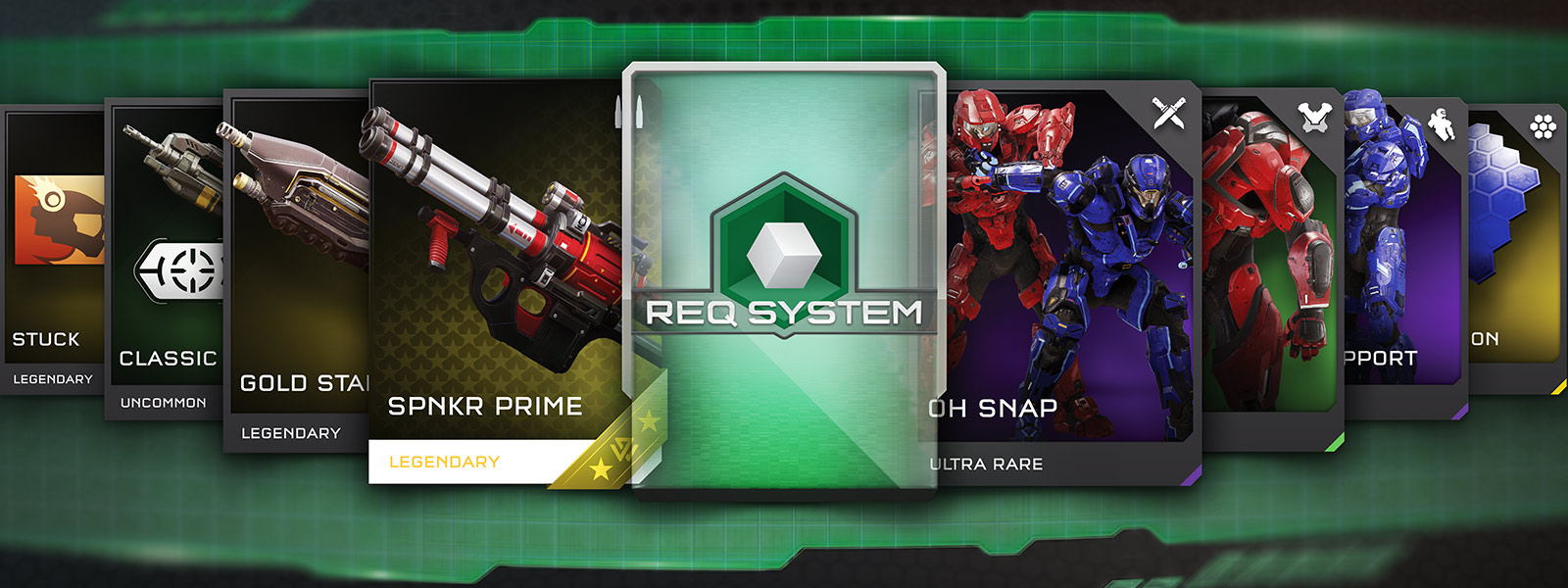 REQ system in-game cards