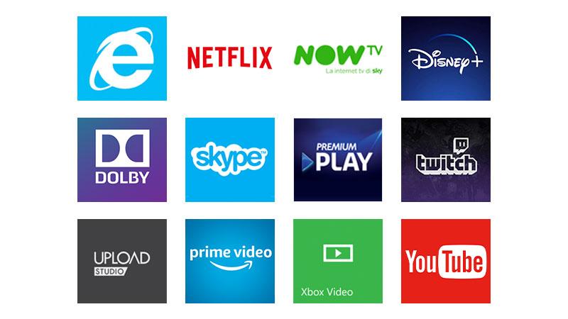 Accedi a centinaia di applicazioni e servizi sulla tua Xbox: film, musica e giochi.