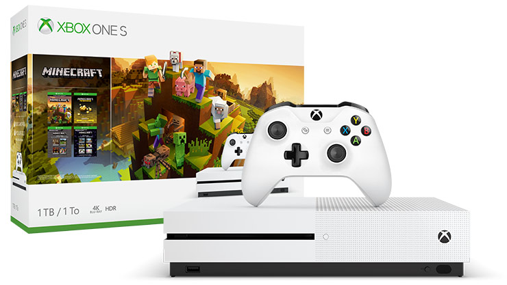 Xbox One S Minecraft Creators Bundle (1 TB)