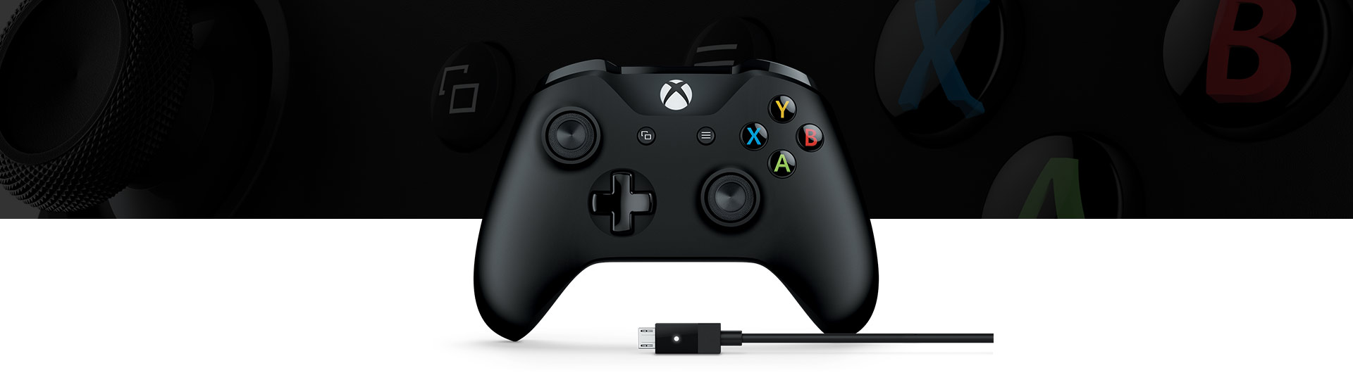 Xbox-handkontroll + Windows-kabel