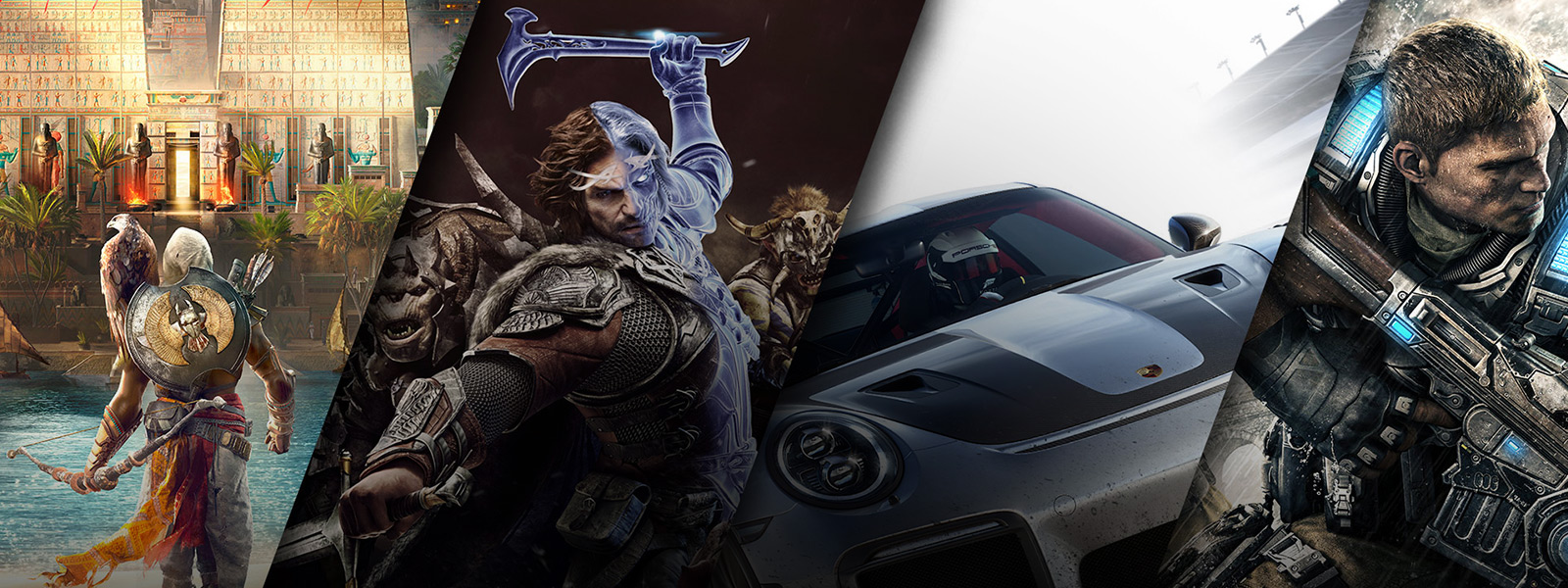 Colección de Assassin's Creed: Origins - Shadow of War - Forza 7 - Gears of War 4