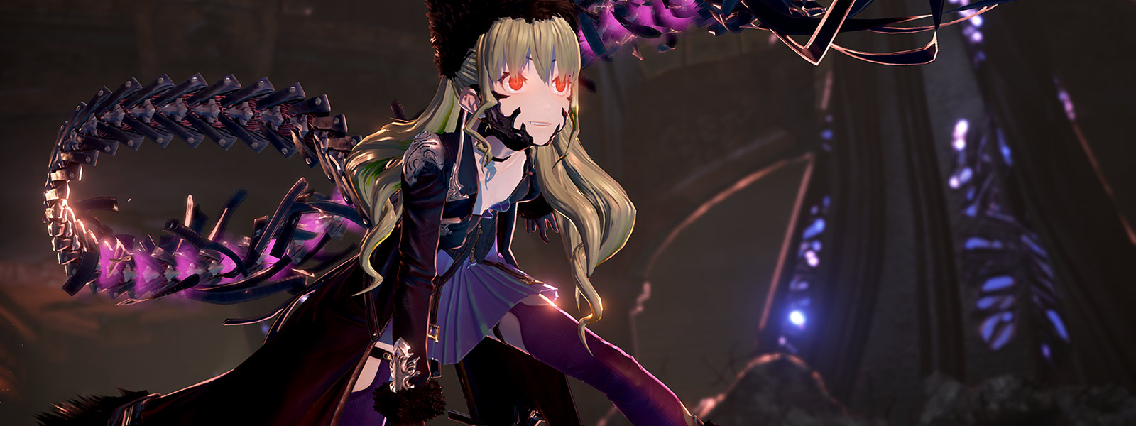 Code Vein character waves tail-like weapon called a Blood Veil