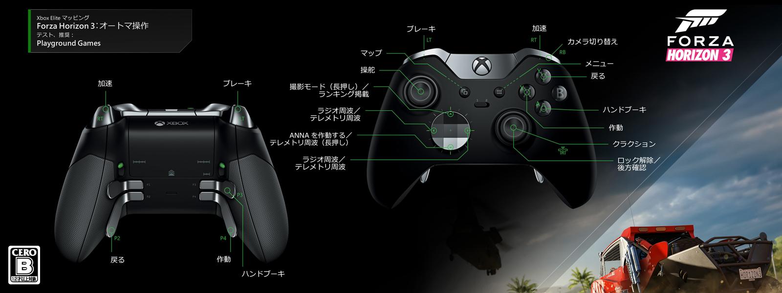 Forza Horizon 3 - オートマチック トランスミッション Elite マッピング