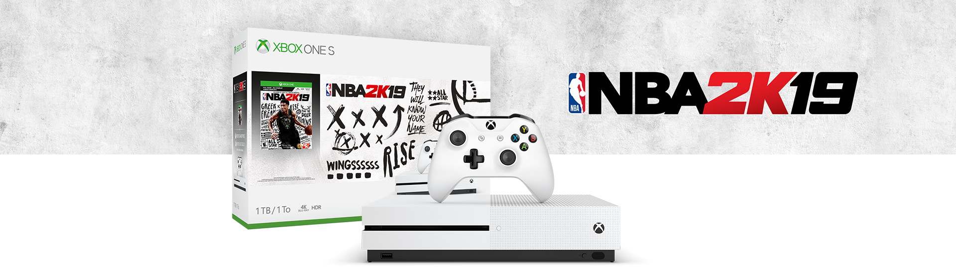 Xbox One S NBA 2K19 Bundle (1TB) | Xbox
