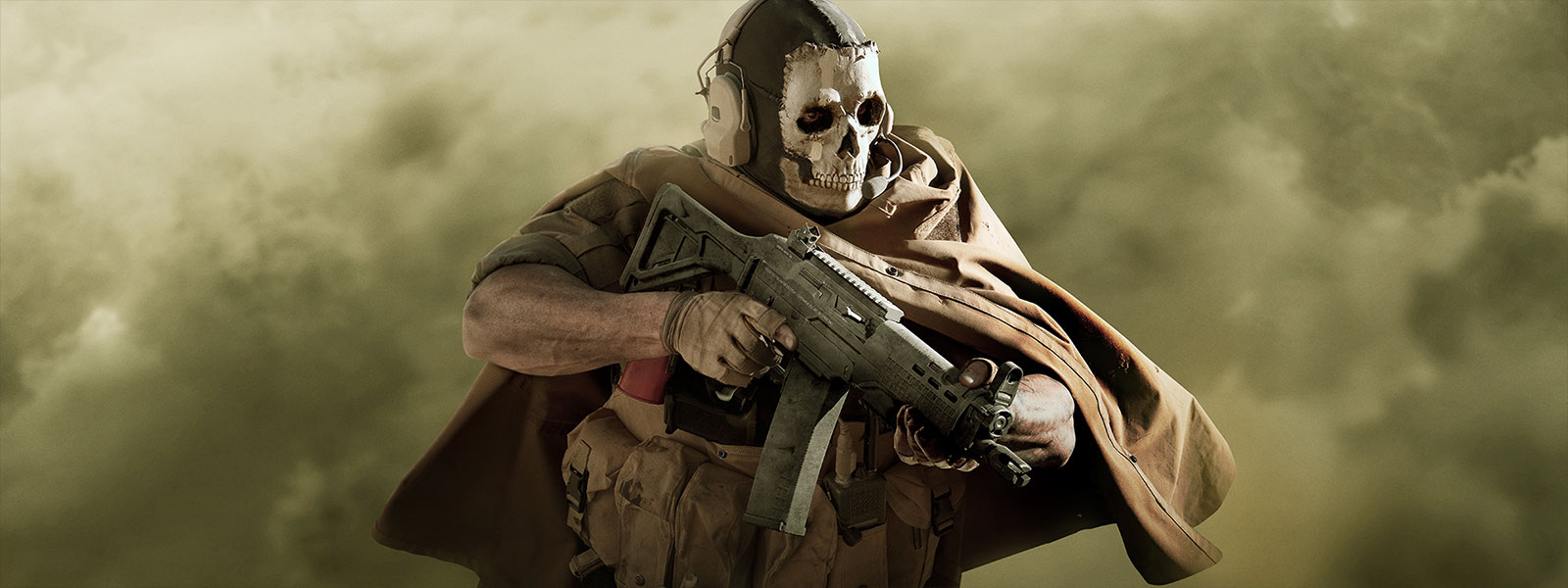 Ghost from Call of Duty: Modern Warfare in skull mask and stealth gear