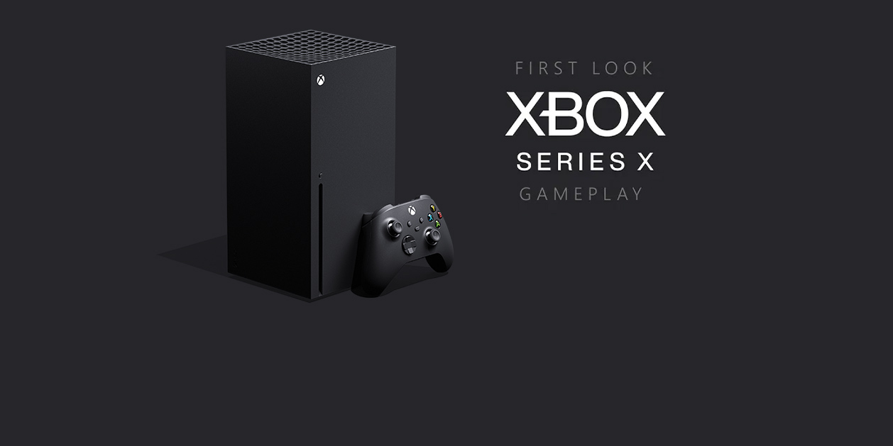 An Xbox Series X and controller announcing the first look at gameplay